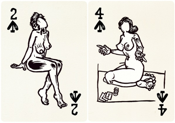 Naked Charm: Nudie Playing Cards Get A Contemporary Shuffle   Co.Design   business + design