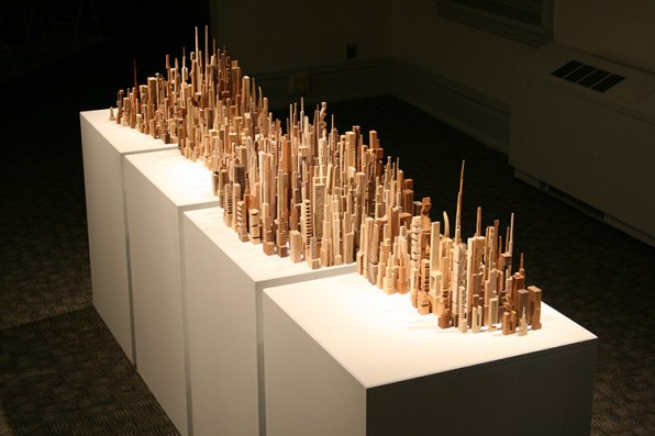 Awesome, Imaginary Cities Carved Out Of Wood