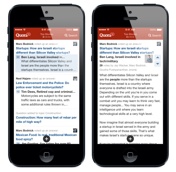 Quora Redesigns Its Iphone App From The Ground Up For Ios 7
