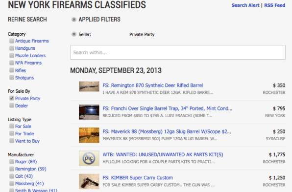 On Armslist, The Craigslist For Guns, 1 in 30 Buyers Already