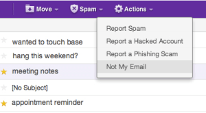"A ""Not My Email"" Button, Because Yahoo Users Are Getting"