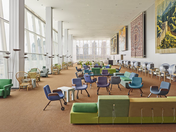 An All-Star Delegation Of Dutch Designers Revamp The UN Lounge