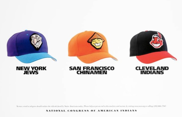 Native Americans Counter Racist Iconography With Racist Baseball Caps