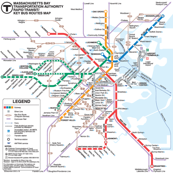 Map Of Boston Subway The Science Of A Great Subway Map