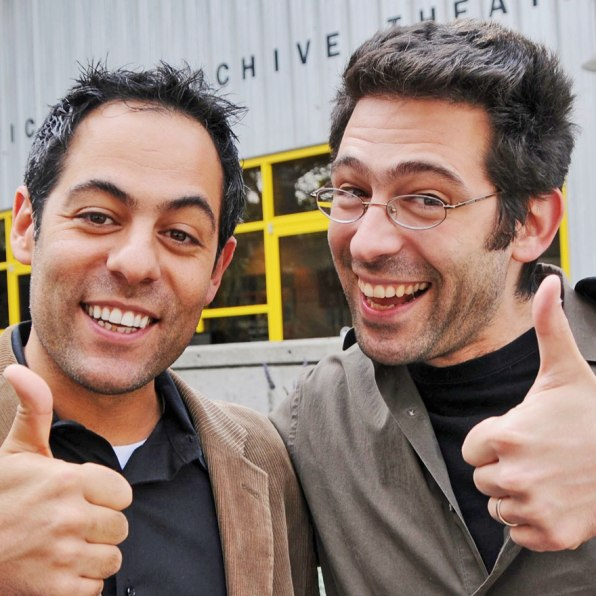 bobblehead loving jibjab brothers grow up make vids for kids