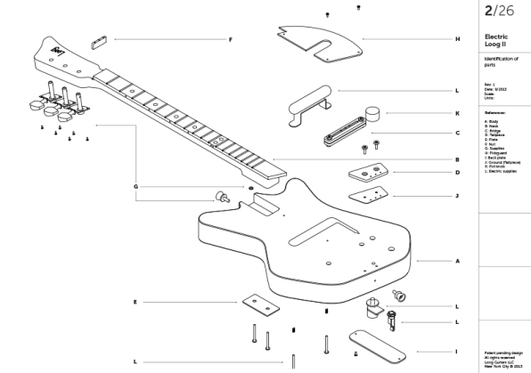 a rad electric guitar that kids put together themselves