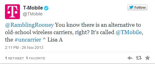 AT&T and T-Mobile Slug It Out Over A Customer On Twitter