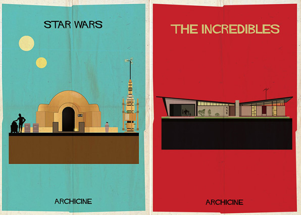 Minimalist Posters Depict The Architecture Of 13 Classic Films