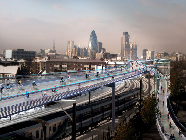 London's Car-Free Highway Could Transport Bikes, Boxes, And Energy