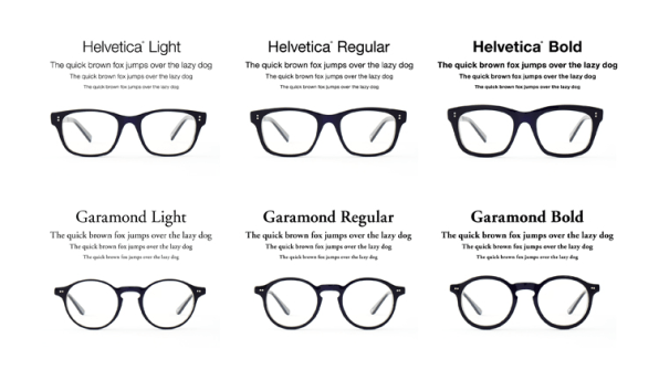 Helvetica And Garamond Glasses Turn Fonts Into Frames