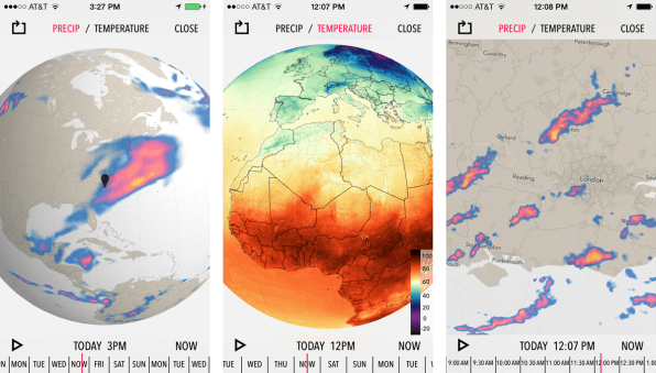 The worlds highest res map of global weather the flashiest new feature is an interactive world map of precipitation and temperature projected onto a 3 d globe users can spin the precipitation map to gumiabroncs Choice Image