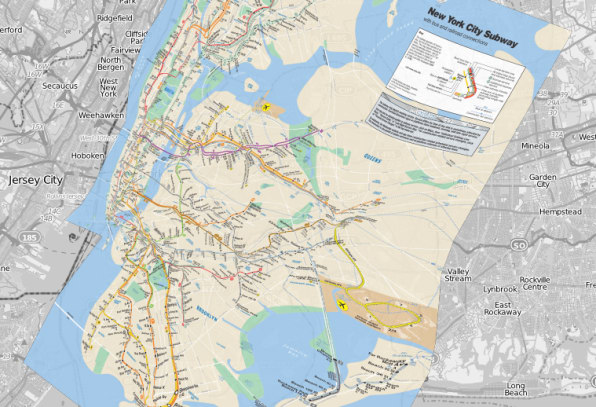 How geographically accurate is your citys subway map image new york citys mta courtesy of ben schmidt gumiabroncs Choice Image