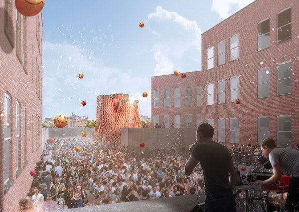 Tower To Rise At MoMA PS1, With Self-Assembling Bricks