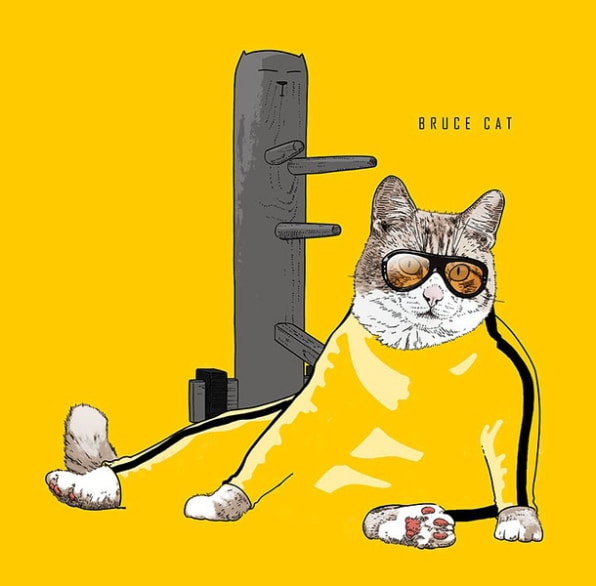 14 Supurrrb Illustrations Of Cats As Celebrities And Superheroes