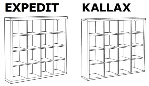 The Sides Of Kallax Are A Single Centimeter Thinner Than Those Expedit Change Is Being Made Because Ikea Consumes An Astounding 1 Percent
