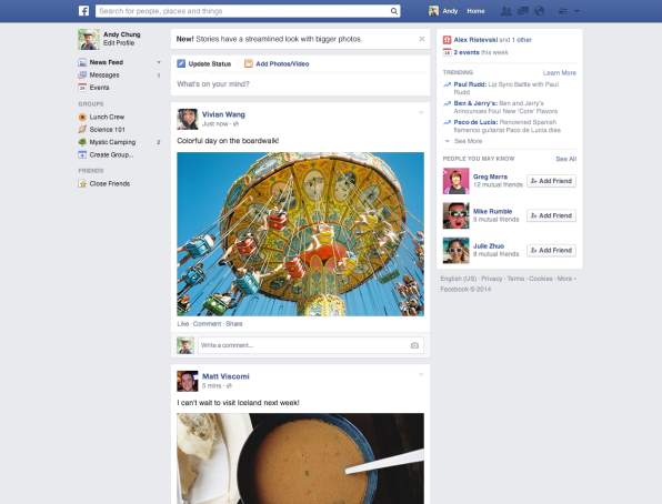 Facebook Releases A Cleaner, Mobile-Friendly News Feed
