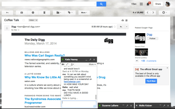 A Modest Idea For Fixing Google Chat's Awful Design