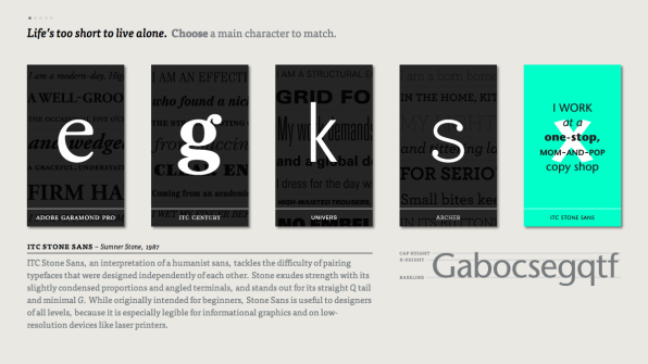 Type Connection Helps You Find Matching Typefaces