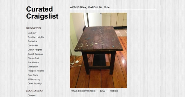 Art Spiegelman's Daughter Starts Curated Craigslist, An Easy