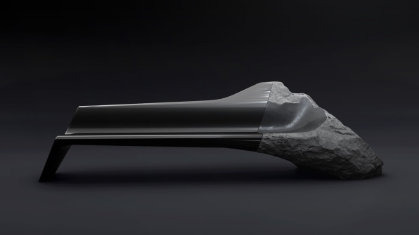 A Futuristic Sofa Made Out Of 11,000-Year-Old Volcanic Lava