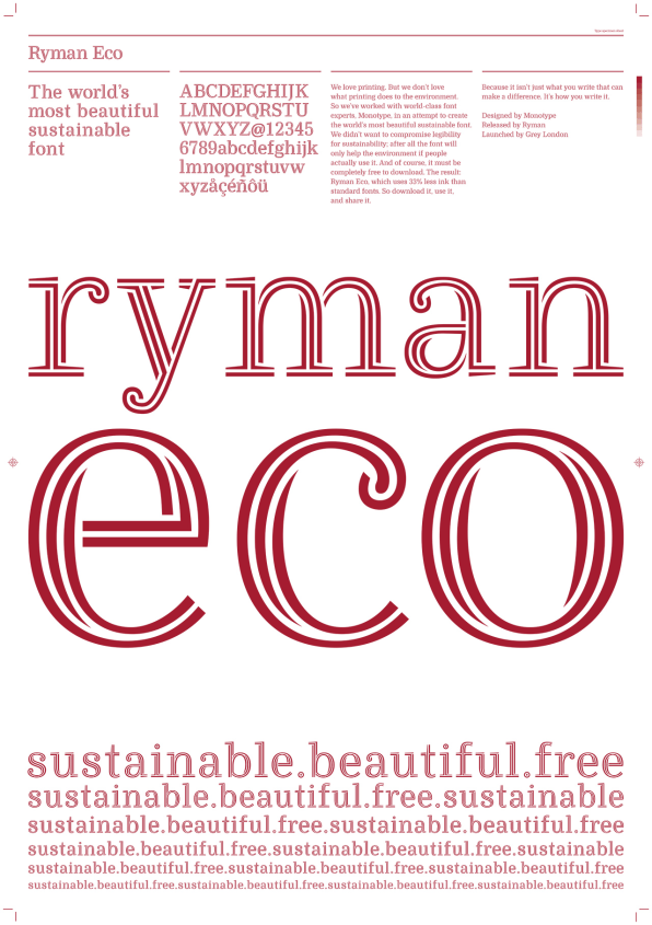 """Did An Ad Agency Just Create """"The World's Most Beautiful Sustainable Font?"""""""