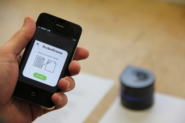 Portable Robot Printer Is Like A Roomba That Squirts Ink