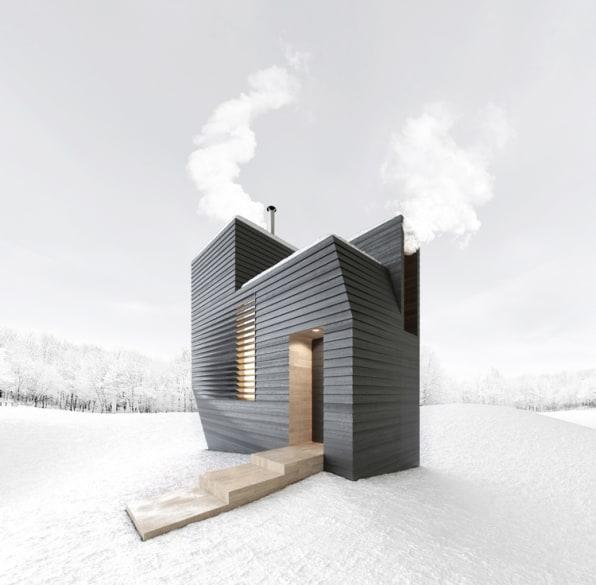 Maze-Like Sauna Is A Steamy Winter Retreat