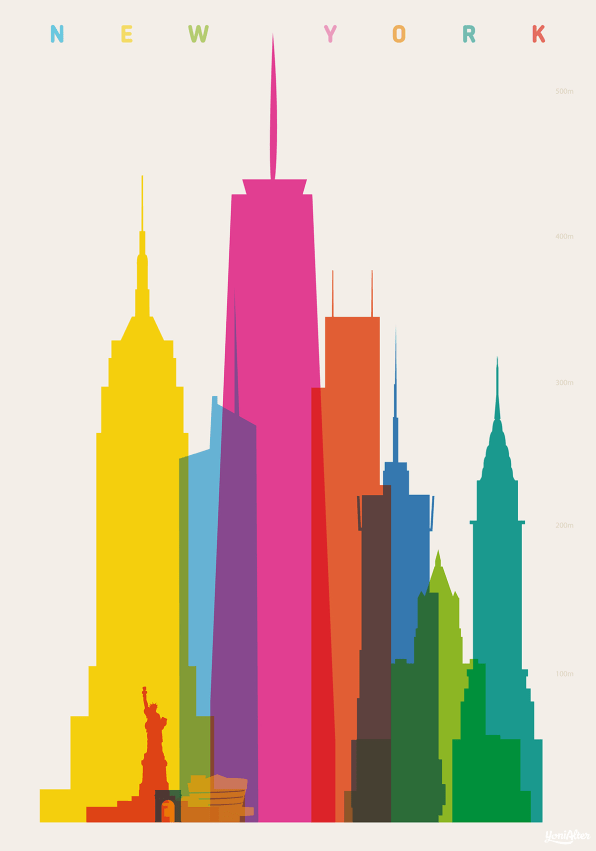 Awesome Neon Maps Of City Landmarks