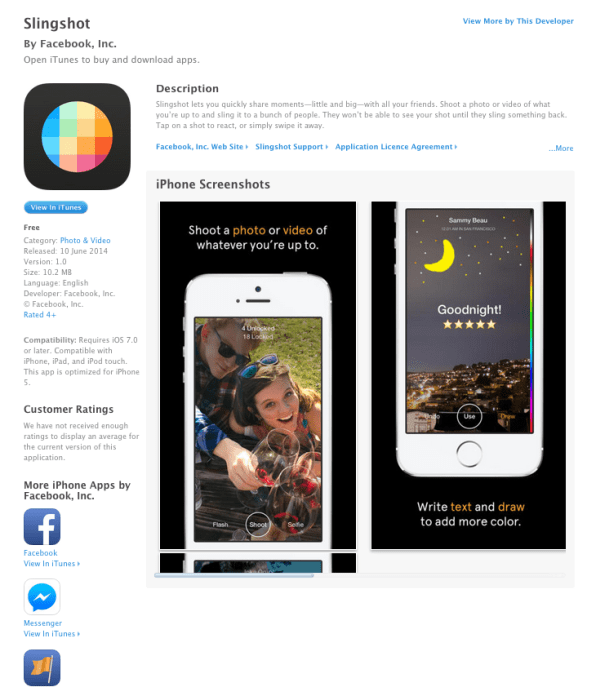 Oops! Facebook Accidentally Launches Slingshot, Another Snapchat Clone