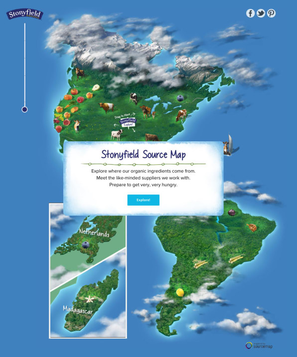 Stonyfield Creates An Interactive Sourcing Map For Its Yogurt Ingredients