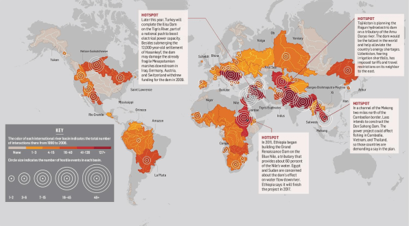 Mapping The World's Water Conflicts Shows Trouble Ahead