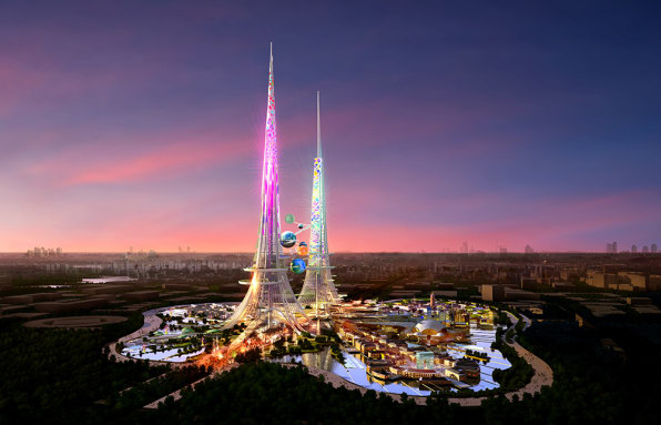 Inside China's Plans For The World's Tallest (And Pinkest) Towers