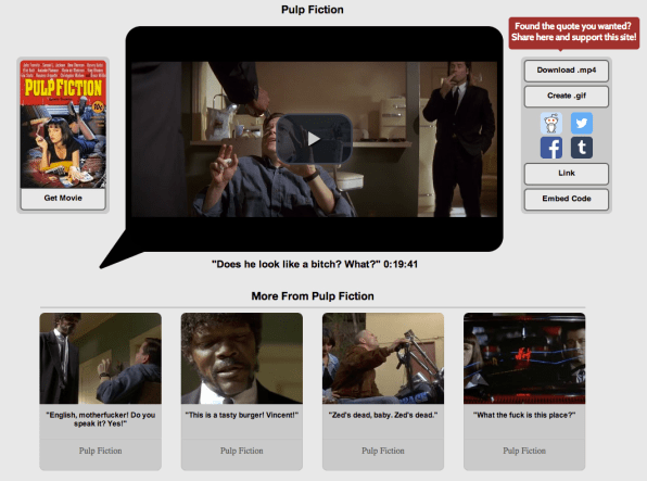 Go Ahead, Make Your Day, With This Movie-Quote Database