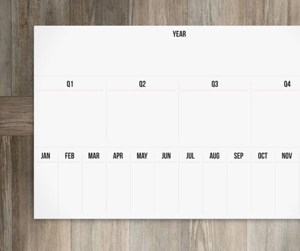 The Goal Board Is A Calendar For Your Ambition