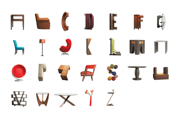 Letter Made Out Of Objects.Typography Made Of Everything But Ordinary Ink