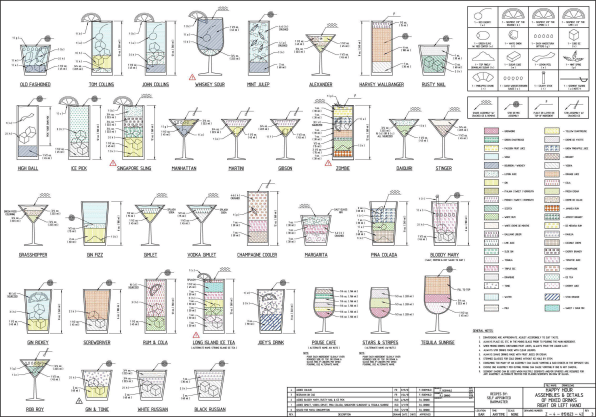 Let AutoCAD Show You How To Mix More Than 70 Classic Cocktails