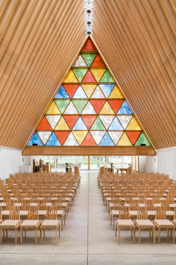 6 Inspiring Interiors, From A Rain Room To A Cardboard Cathedral