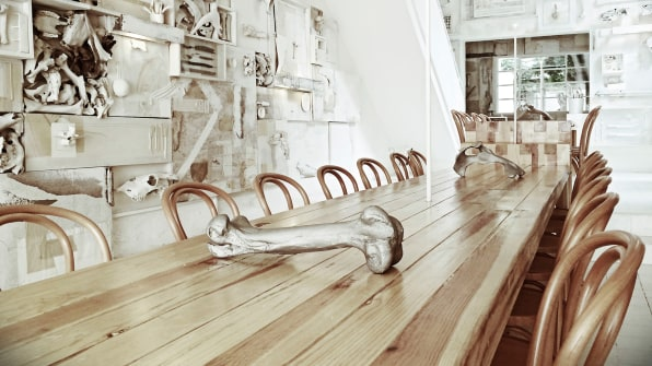 This Macabre Restaurant Is Decorated With 10,000 Bones