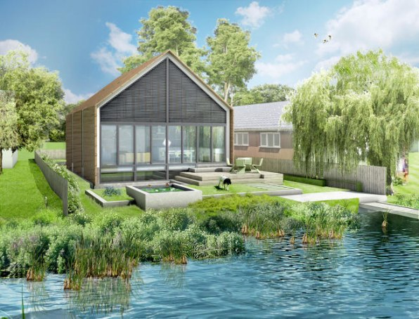 In A Flood, This Amphibious House Starts To Float