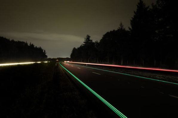 This Tron-Like Highway Uses Solar Power To Glow In The Dark