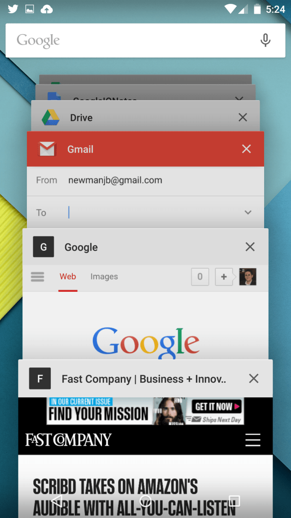 With Android Lollipop, Mobile Multitasking Takes A Great Leap Forward