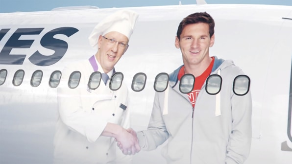 Didier Drogba And Lionel Messi Play Dueling Foodies For