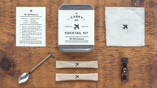 A Travel Kit For Boozing On The Plane
