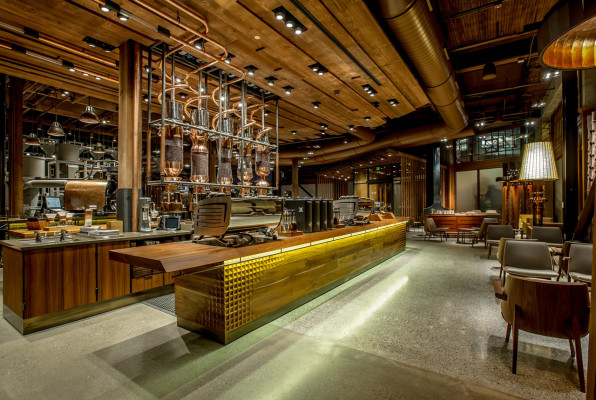 The World's Largest Starbucks Is The Willy Wonka Factory Of Coffee