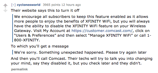 Comcast Was Sued For Quietly Turning Customers' Home WiFi