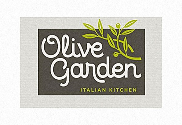 "e286a84639eaa4 WORST  Olive Garden s New Logo Is The Pits ""The gray evokes the ashen  complexion of someone who has just discovered that he will be having dinner  at an ..."