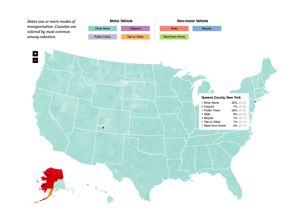 This Interactive Map Shows How Americans Get To Work