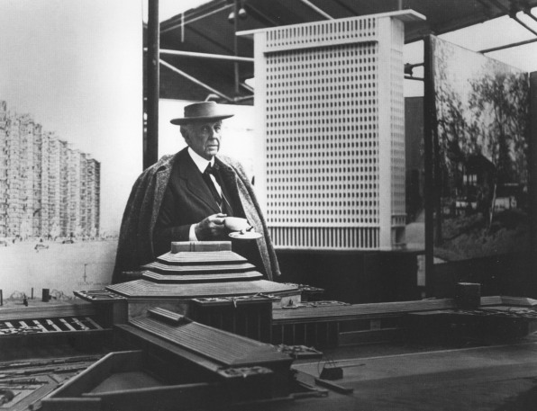 Intimate Photos Of Frank Lloyd Wright At Work