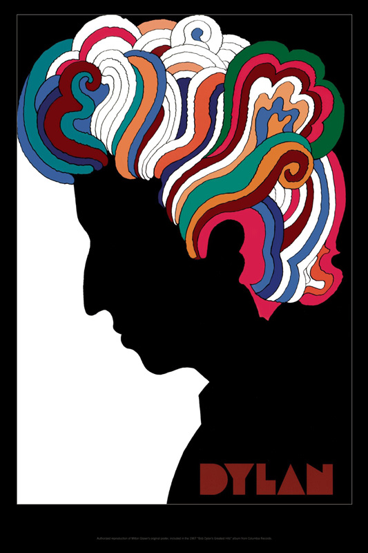 milton glaser reveals how he made the legendary bob dylan even more le