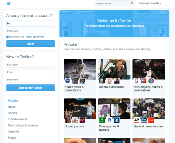 Twitter Is Experimenting With A Major Homepage Design Overhaul